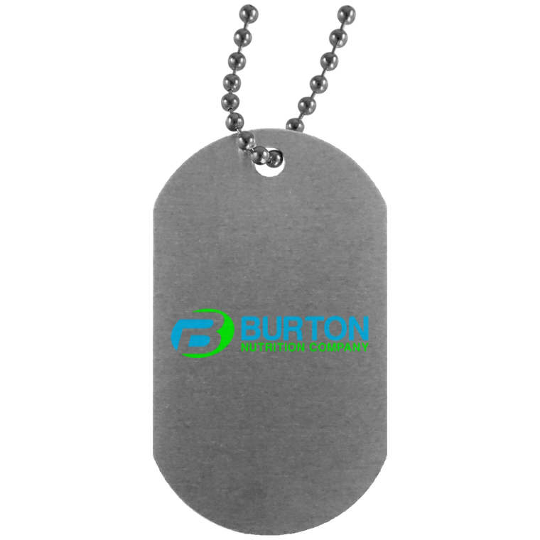 Burton Nutrition Silver Dog Tag