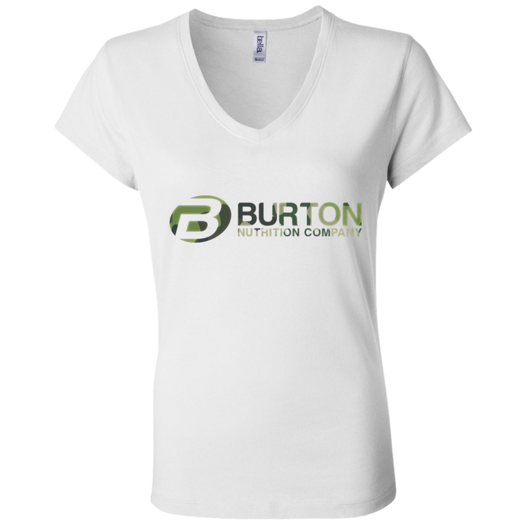 Burton Nutrition Ladies Jersey V-Neck T-Shirt - CAMO