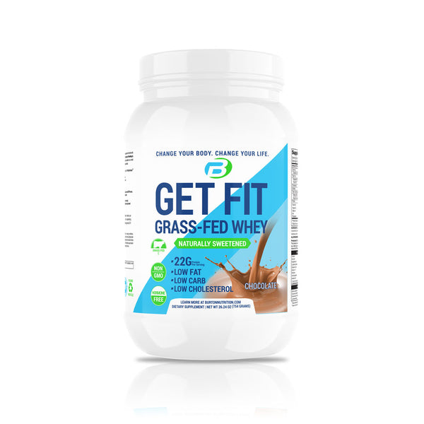 GET FIT GRASS FED WHEY - CHOCOLATE PLUS 🎁 FREE 🎁 CLEANSE & H20 BOTTLE ⭐️ $30.00 VALUE