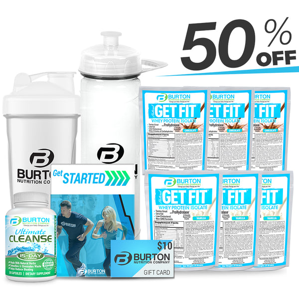 Burton Nutrition Sample Kit 50% OFF! Whey or Vegan