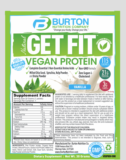 14 GET FIT VEGAN PROTEIN TRAVEL PACKETS 7 VANILLA AND 7 CHOCOLATE