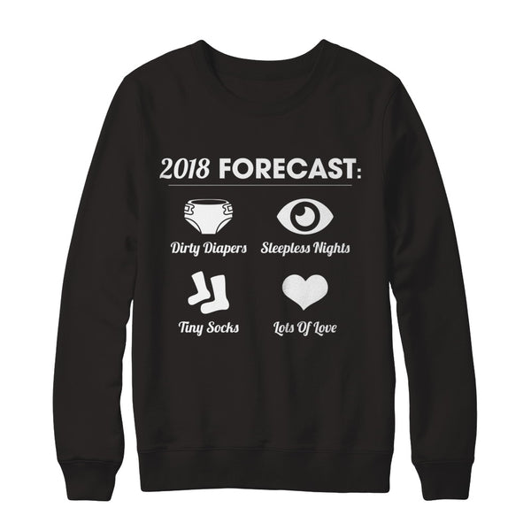 Excellent 2018 Forecast Men Funny New Dad Father Family T-shirt Unisex  YQ29
