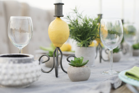 Lemon candlestick