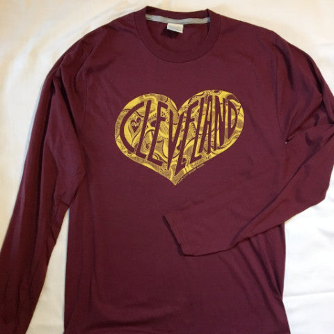 Cleveland Zen Heart long-sleeved t-shirt