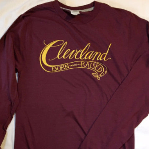 Cleveland Born & Raised Long-sleeved Shirt