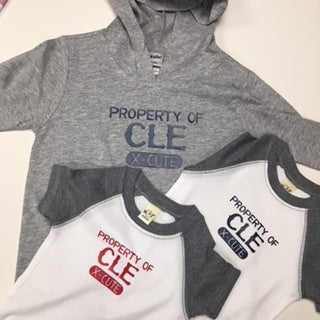 Property of CLE Baby Baseball Onesie