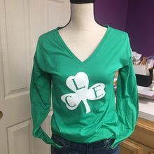 Cleveland Shamrock Long Sleeve V-Neck Tee
