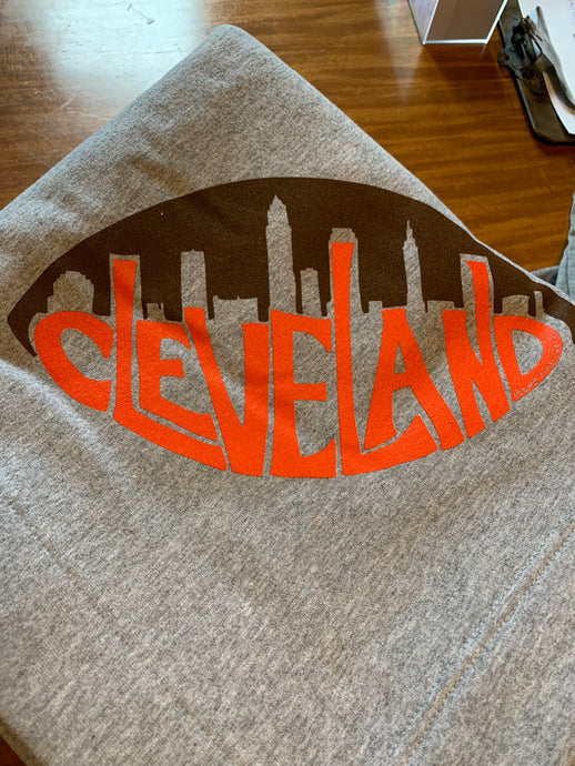 Cleveland Football Sweatshirt Blanket