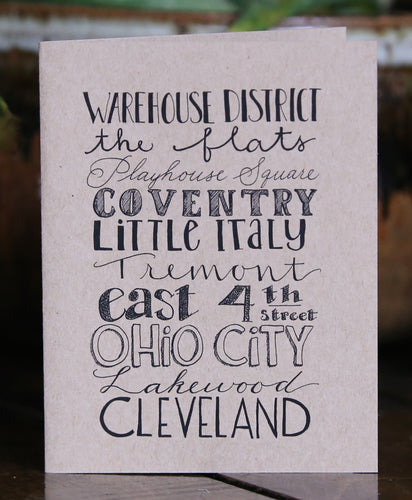 CLE Neighborhoods Card