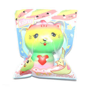 Jumbo Colorful Kiibru Cat Kitten Kitty Doll Squishy Charm