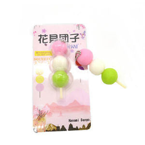 IKUURANI Squeeze Japan Hanami Dango Key Chains Simulation Food Toy Collectibles