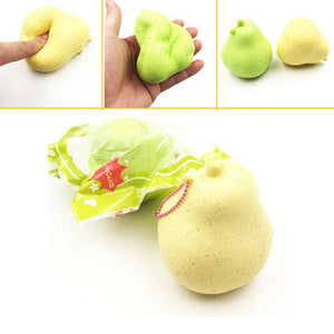 Jumbo Slow Rising Giggle Bread Pear Squishy With Ball chain