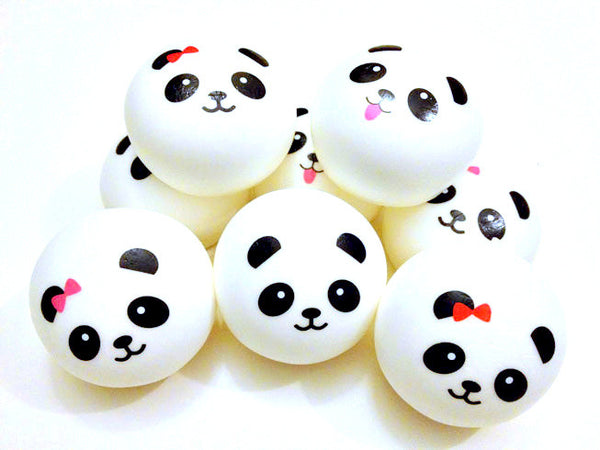 Jumbo Panda Bun Squishy Cell Phone Charms