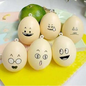 Emoticon Egg Squishy Cell Phone Charms