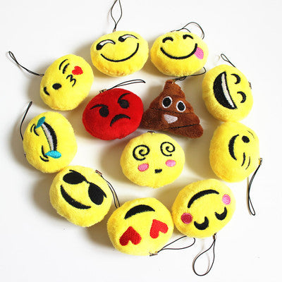 Emoji Plush Mini Key Chain Charms