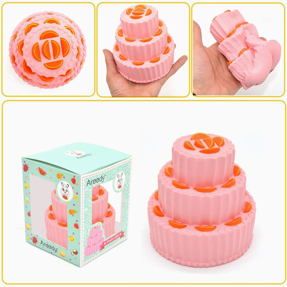 Jumbo 3-Tier Triple Layer Cake Squishy Charm Areedy