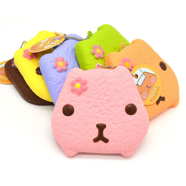 Jumbo Kapibarasan Biscuit Cookie Squishy Charms