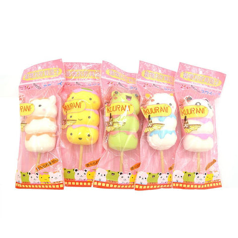 IKUURANI Stretchable Squishable Squeezey Squishy Hanami Dango Animal