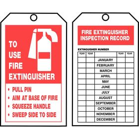 Fire Inspection Tags Card Stock