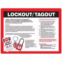 Lockout/Tagout Safety Poster English