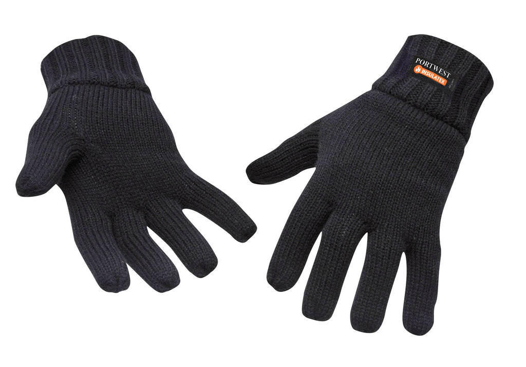Portwest Black Knit Glove Insulatex™ Lined