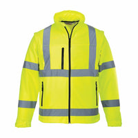 Portwest Yellow Hi-Vis Softshell Jacket