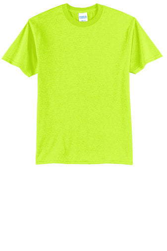 Port and Co Core Blend Safety Green T Shirt PC55