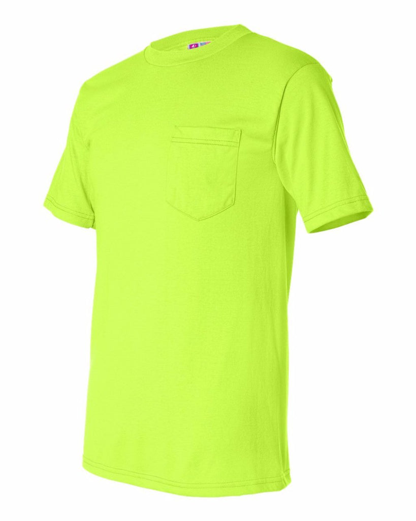 Bayside 1725 50/50 Short Sleeve W/ Pocket Lime T Shirt