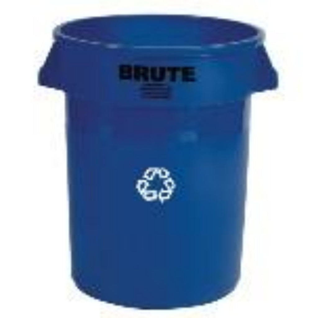 Brute 32 Gal ''We Recycle''  Blue