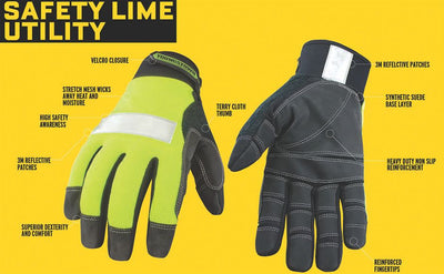 Youngstown Safety Hi-Vis Lime Utility Glove