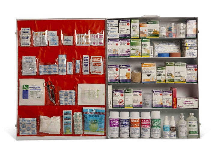 Deluxe Industrial First Aid Cabinet, 5 Shelf   Clark Safety