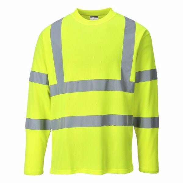 Portwest Class 3 Long Sleeve Cotton Hi-Vis Shirt