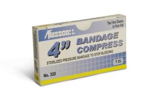"Afassco Compress Bandage,4"",1/1ct"