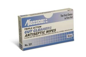 Afassco Cut Cleansers Antiseptic Wipes, 10 Box