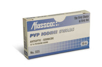 Afassco PVP Iodine Swabs, 10/box
