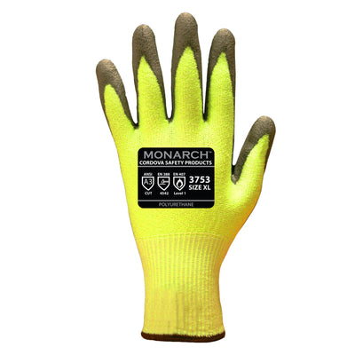 Cordova Monarch Hi-Vis Green Taeki 5 Gloves Cut 3
