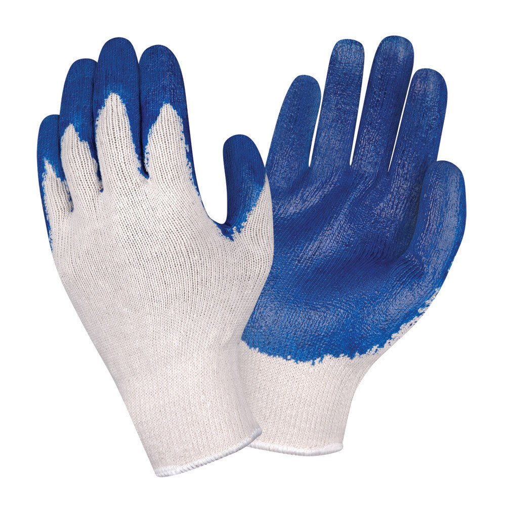 Cordova Latex Dipped Palm Coated String Knit Gloves, Dozen