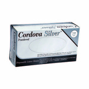 Copy of Cordova Silver Latex Pwd 100 Bx Disposable  Gloves