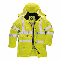 Portwest Hi-Vis 7-1 Traffic Jacket, Yellow
