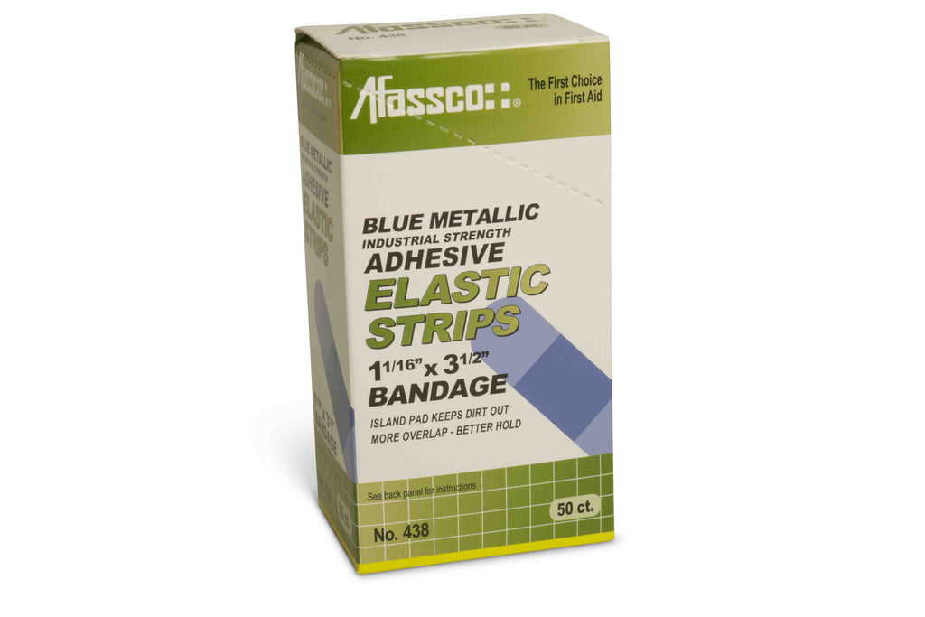 Elastic Strip Blue Metallic