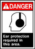 Danger Ear Prot. Req. Sign