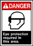 Danger Eye Prot. Req. Sign