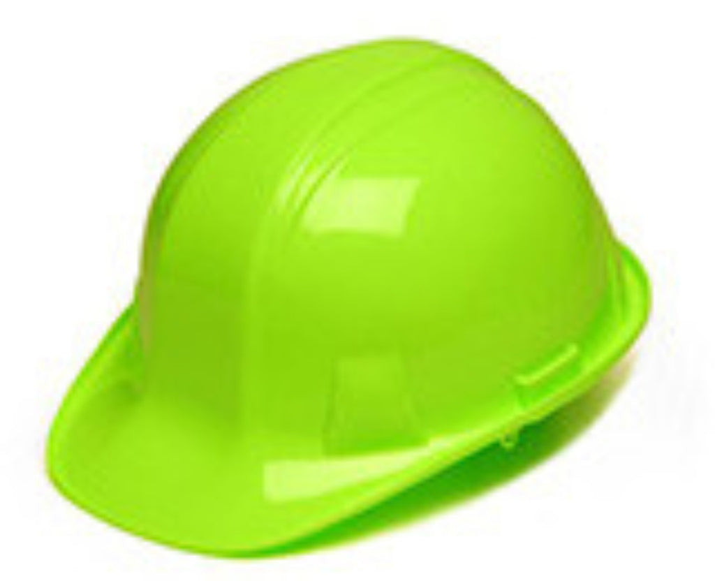 Pyramex Hi-Vis Lime  4 pt Ratchet Suspension Hard Hat