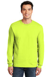 Gildan Long Sleeve T-Shirt Safety Green