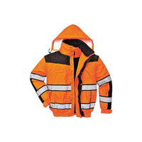PORTWEST Class 3 Classic Bomber Jacket 3-1 Orange