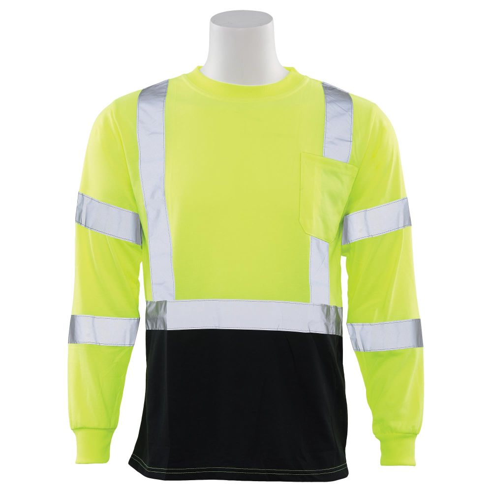 ERB Class 3 Long Sleeve T-Shirt Lime with Black Bottom
