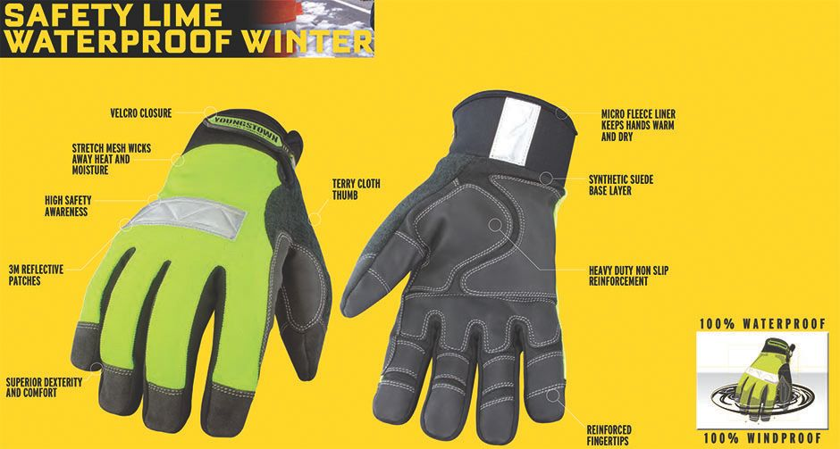 Youngstown Safety Lime Utility Winter Proof Glove