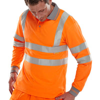 Portwest Class 3 Long Sleeve Polo- Orange