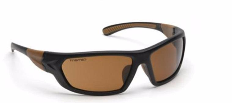 Carhartt Carbondale Sandstone Bronze with Black/Tan Frame Safety Glasses Dozen