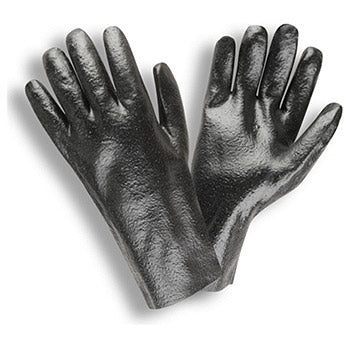 Cordova 5012R Black Single Dipped 12-inch PVC Gloves 12 pair
